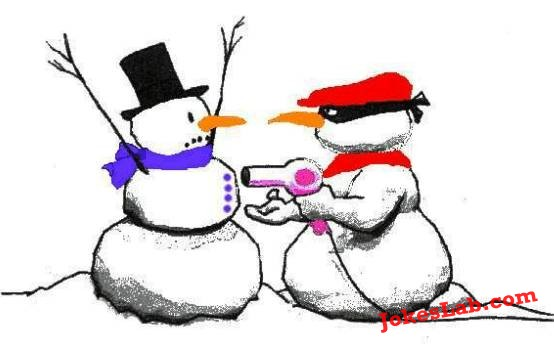 funny picture, how to rob a snowman
