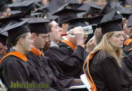funny commencement, it is time to cheer, it is time to drink..