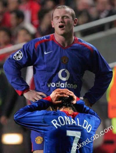 Rooney is enjoying the blow job in the football field