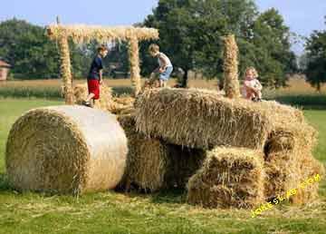 funny hay tractor