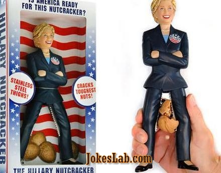 funny hiliary Clinton nutcracker