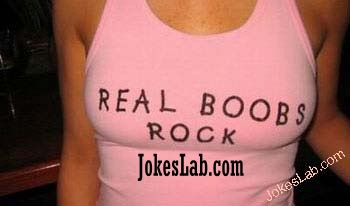funny picture, real boobs rock
