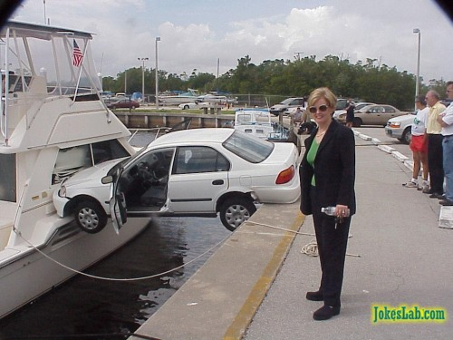 funny woman parking
