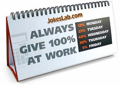 always gives 100% at work