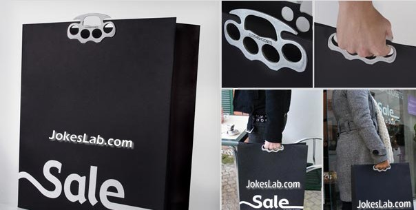 funny shopping bag, fit your fingers