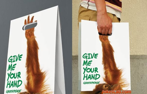 funny shopping bag, hold my hand