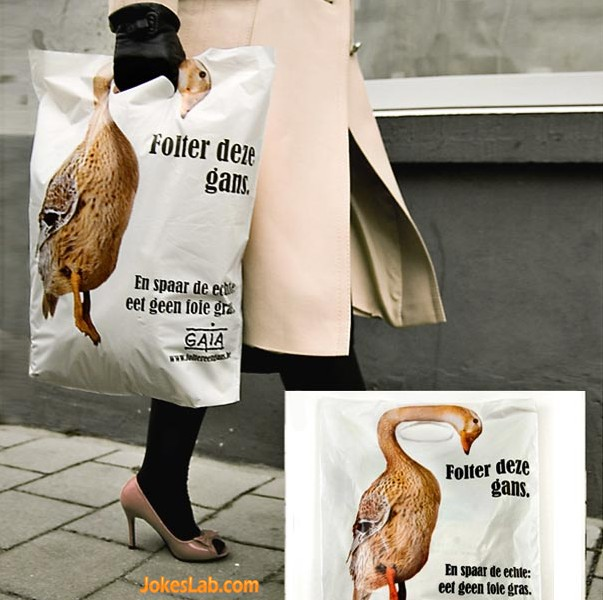 funny shopping bag, groose