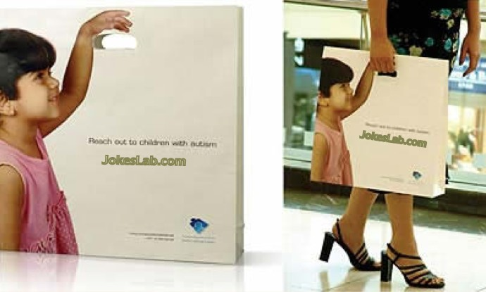 funny shopping bag, get a child around with you, hold my hand