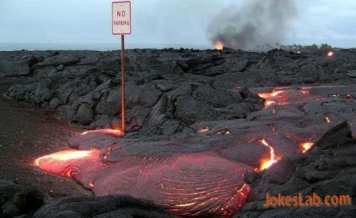 funny no parking in volcano