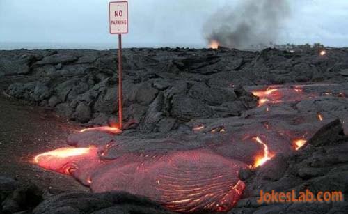 funny no parking in volcano
