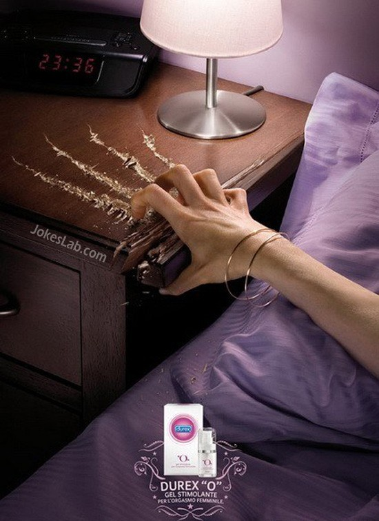 funny Durex ad for Play O Gel, sexy