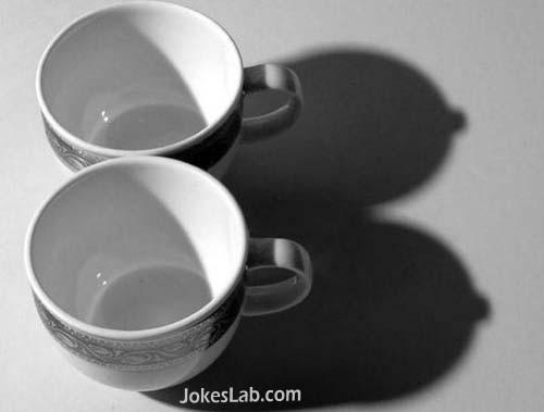 funny shadow, mug, not breast