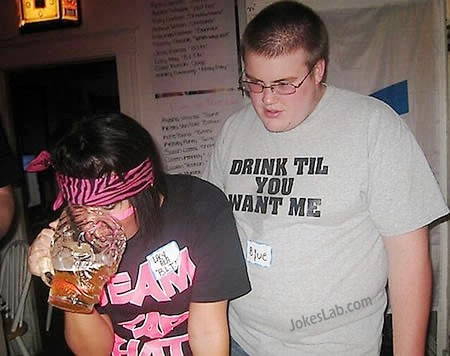 drink more beer, then you will want to have sex with me