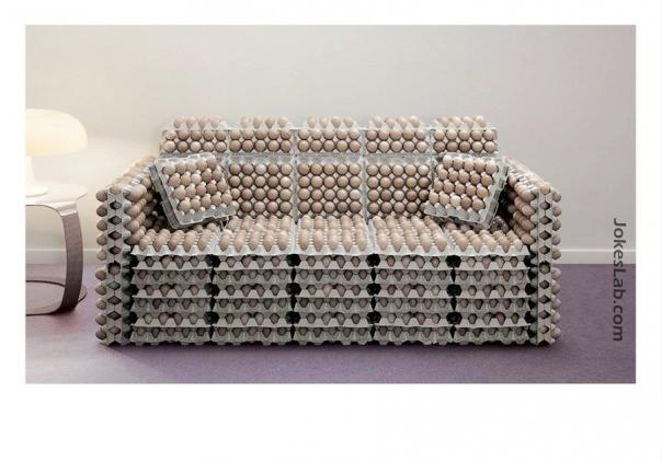 funny egg sofa