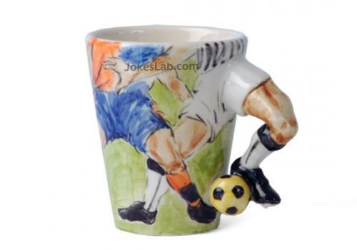 funny mug, football players