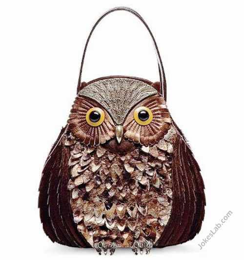 funny owl handbag.