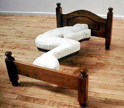 funny curve fitting bed, a good excuse for not sleeping with your wife or girl friend