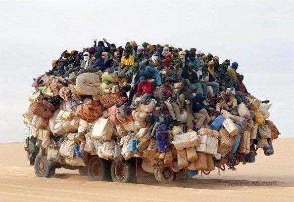 funny overloaded car