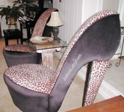 funny high heel chair for office ladies to dream their curves