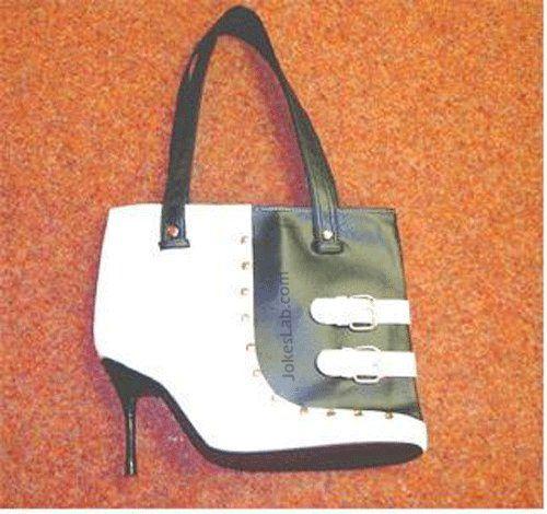 funny high heel handbag