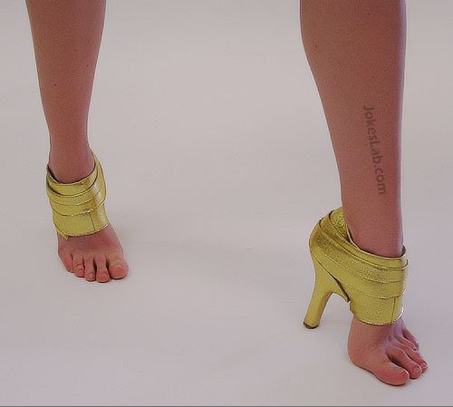 funny bottomless shoes with sexy legs