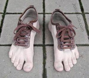 funny shoes with toes