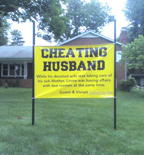 yard-sign-cheating-husband