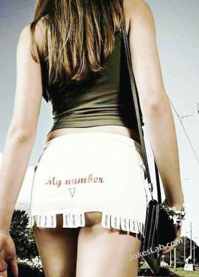 funny-tear-off-my-number in the skirt