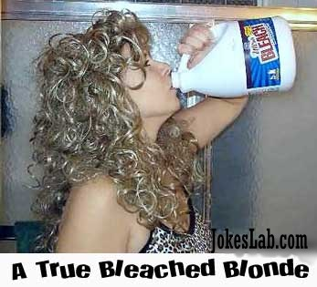 funny picture, a bleached blonde