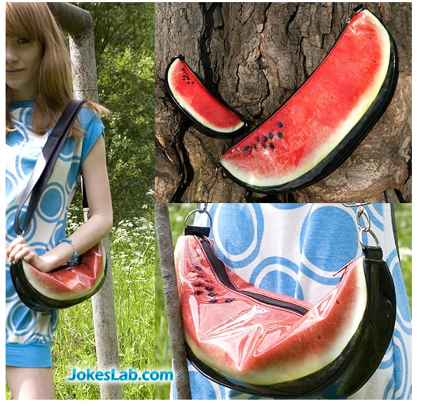funny shopping bag, watermelon bag