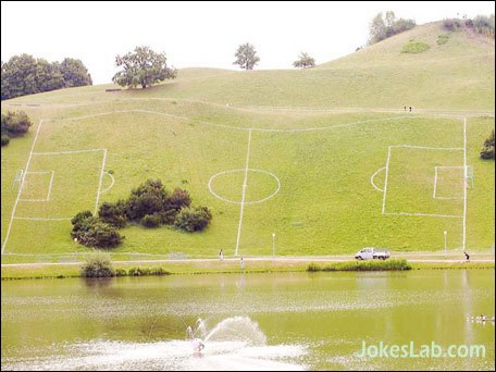 funny football field