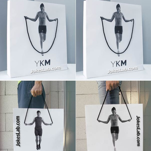 funny shopping bag for sportsman and sportswoman