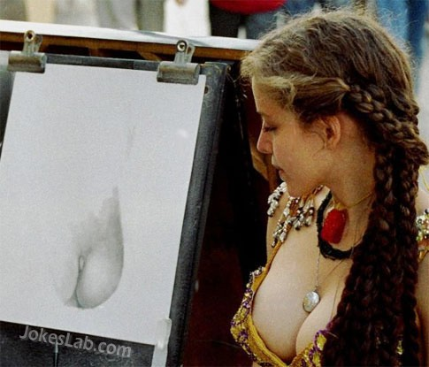 funny details of a model, the breast