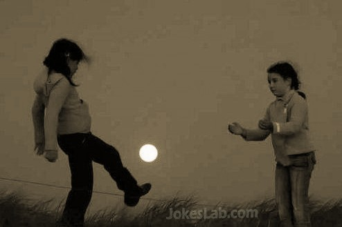 funny kids playing the sun, ps