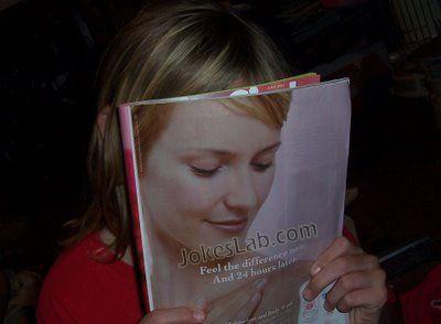 funny reading lady