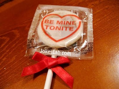 be mine, the funny valentine day gift condom