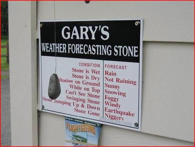funny weather forecasting stone