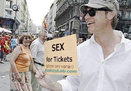 sex for football ticket, guy is looking for tickets by offering sex