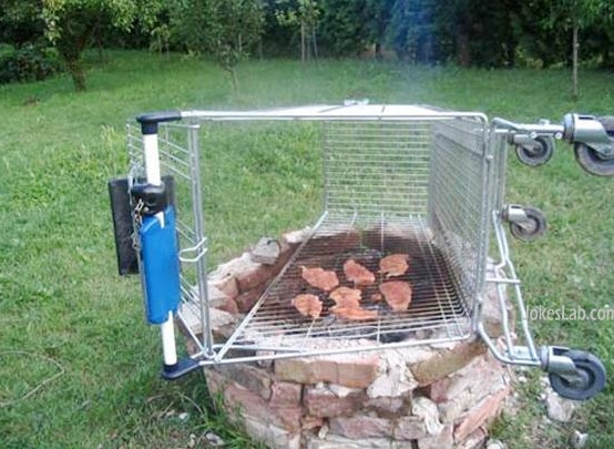 funny trolley barbecue