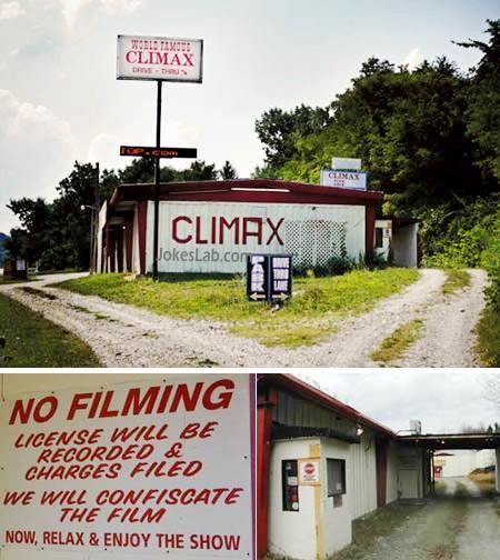funny strip club notice, no filming