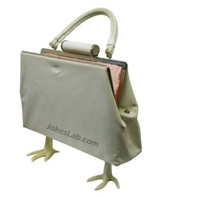 funny handbag, hen