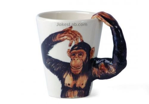 funny mug with gorilla, sexy