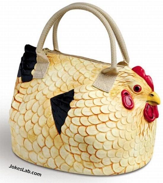 funny handbag, rooster, cock, dick, sex