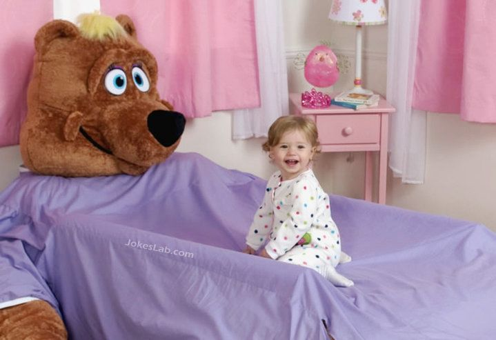 funny bear bed for girls