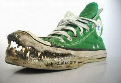 funny crocodile shoes for fishing