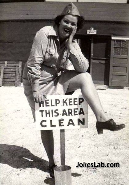 funny sign keep this area clean