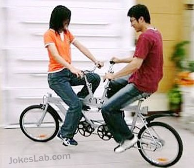 funny-bicycle-for-couple
